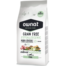 OWNAT grain free HYPOALLERGENIC svinjina 3kg