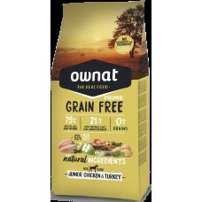 OWNAT grain free PRIME junior piščanec & puran 3kg