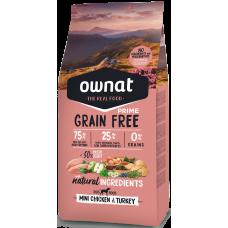 OWNAT grain free PRIME mini piščanec & puran 1kg