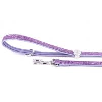 MYF Usnjeni povodec lila - 110cm