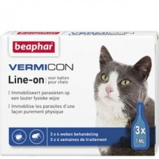 VERMICON LINE-ON ampule za mačke - 3kos