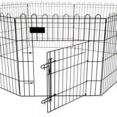 Kovinska  stajica za pse -61x91,5cm - 8 panelov