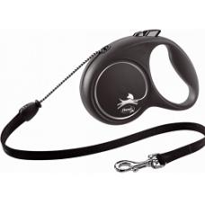 FLEXI BLACK DESIGN S srebrn  / 5m, vrvica
