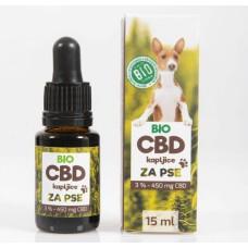 BIO CBD kapljice za pse 3% (450 mg CBD) XL – 15ml
