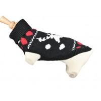 Plašček volneni pulover  XMASS črn - 25cm