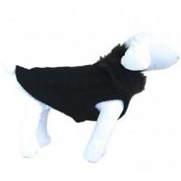 Plašček volneni pulover ČRNI Z MUFOM - 20cm