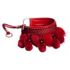 Dekorativna ovratnica rdeča - 26-36cm