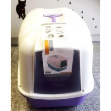 Mačji WC zaprti vijola - 54cm