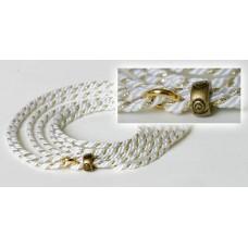Razstavna vrvica belo zlate barve - ¤ 2,5mm, dolžine 1,25m