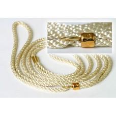 Razstavna vrvica belo krem barve - ¤ 5mm, dolžine 1,25m