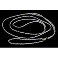 Razstavna vrvica belo srebrne barve - ¤ 3mm, dolžine 1,25m