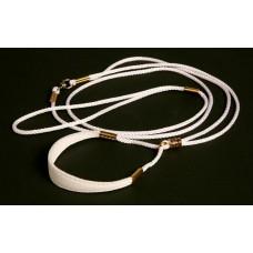 Razstavna vrvica bele barve - ¤ 4mm, dolžine 0,95m