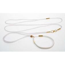 Razstavna vrvica bele barve - ¤ 2,5mm, dolžine 1,25m