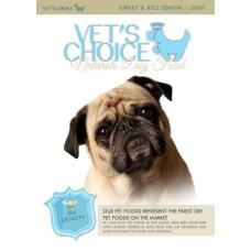 VET'S CHOICE Naturals Senior-light Turkey&rice 2kg