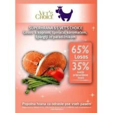 VET'S CHOICE super food ADULT losos - 12kg