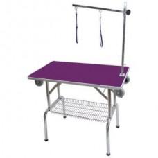 Miza za striženje s privezom in kolesi, zložljiva